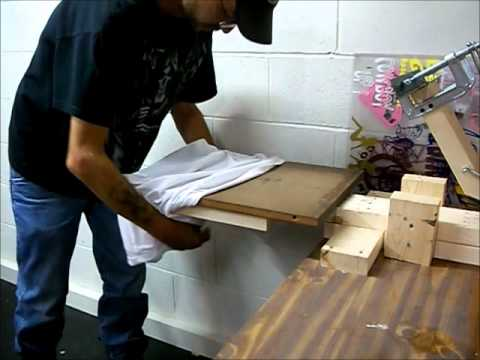 9c93f424 how to build a homemade screen printing press - YouTube