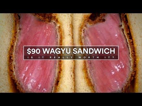 $90 WAGYU Sandwich! Is It WORTH IT?