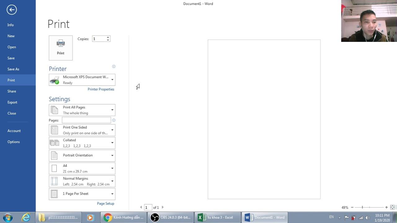 Cách chọn khổ giấy a4, a3 trong word