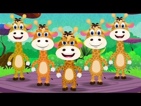 Five Little Giraffes - Nursery Rhymes Songs I Children Rhyme I Kindergarten Baby Song I Toddler Kids