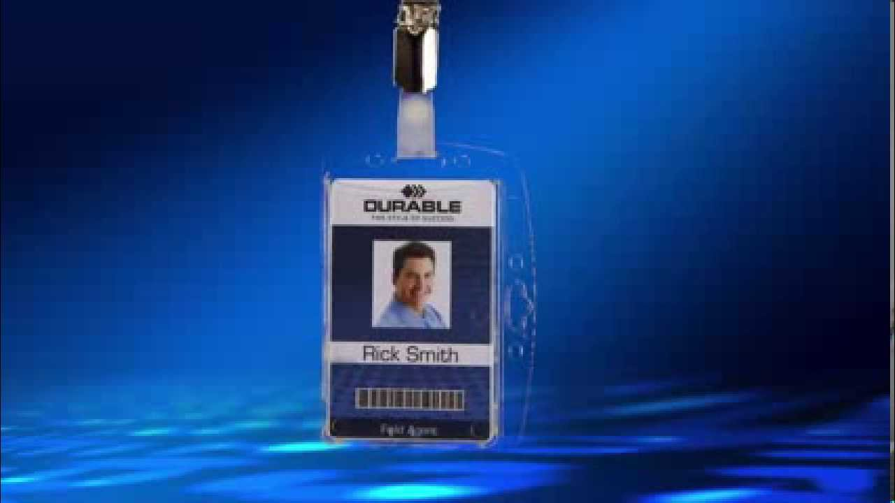 security card id name badge holder with badge clip by durable office products