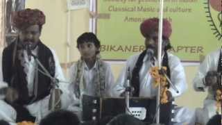 Bundu Khan Langa and Party at Dungar College Movie by Dr Satish Gupta, Bikaner M2U00932