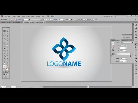 How to Design a Gradient Logo in Illustrator | Logo Design Tutorial thumbnail
