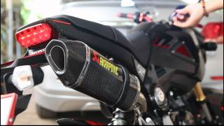 Repeat youtube video My honda MSX125 with Akrapovic carbon slip on