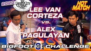 HOT MATCH: Lee Vann CORTEZA vs. Alex PAGULAYAN - 2020 DERBY CITY CLASSIC BIGFOOT 10-BALL CHALLENGE