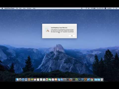 Coretelephony trace file error mac os
