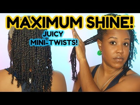 HOW TO REFRESH MINI TWISTS FOR MOISTURE AND SHINE! | NATURAL HAIR