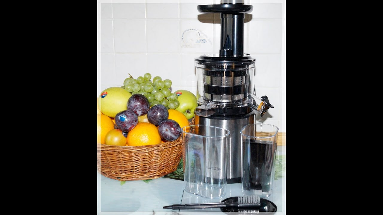 klarstein flowjuicer entsafter slow juicer youtube. Black Bedroom Furniture Sets. Home Design Ideas
