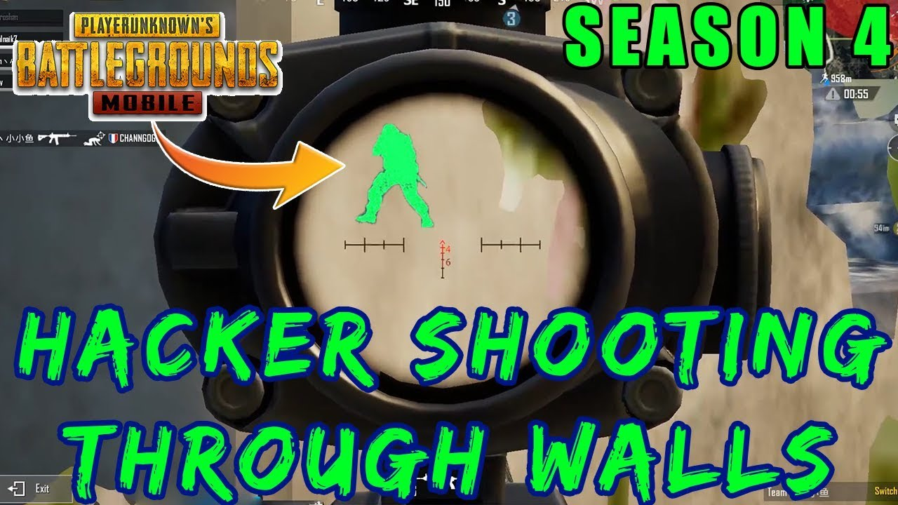 HACKER IN PUBG MOBILE AIMBOT THROUGH WALLS | SEASON 4 HACKER SPOTTED