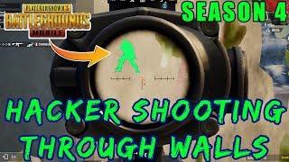 HACKER IN PUBG MOBILE AIMBOT THROUGH WALLS | SEASON 4 HACKER SPOTTED thumbnail