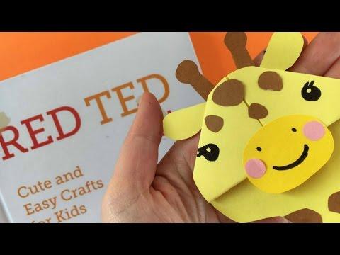 Easy Giraffe Bookmark Corner DIY - Paper DIYs - Cute & Easy