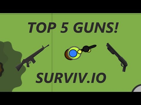 TOP 5 GUNS! ULTRA RARE! SURVIV.IO!