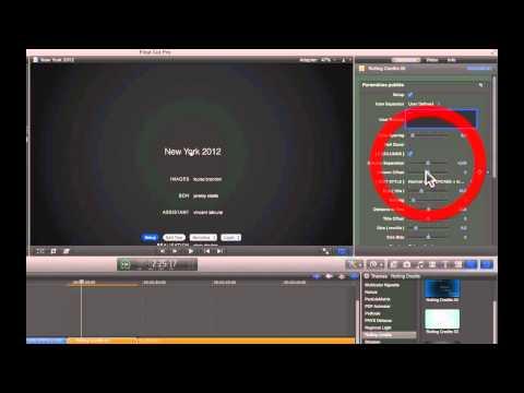 FCPX. Rolling Credits, l'outil générique de fin