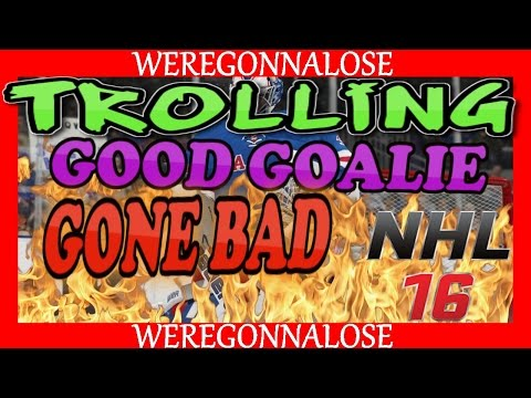 NHL 16 – GOOD GOALIE GONE BAD (NHL 16 PS4 Live Commentary Team Play with Friendly Reactions