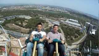 PortAventura opens Europe's tallest roller coaster : Shambhala (POV and Reverse POV)
