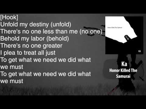 Ka - Just - Lyrics [HD&HQ]