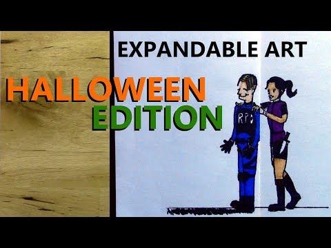 DIY Folding Paper Artwork - Halloween Edition - ft. The Art of Horror