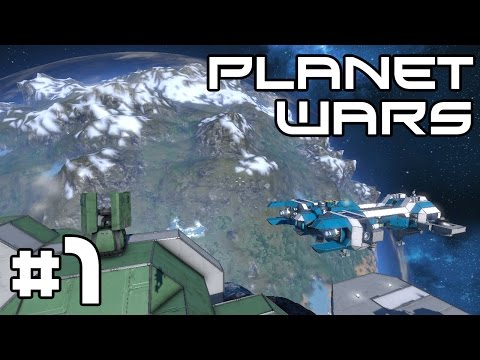 Space Engineers Planet Wars - A Heavy Landing! #1
