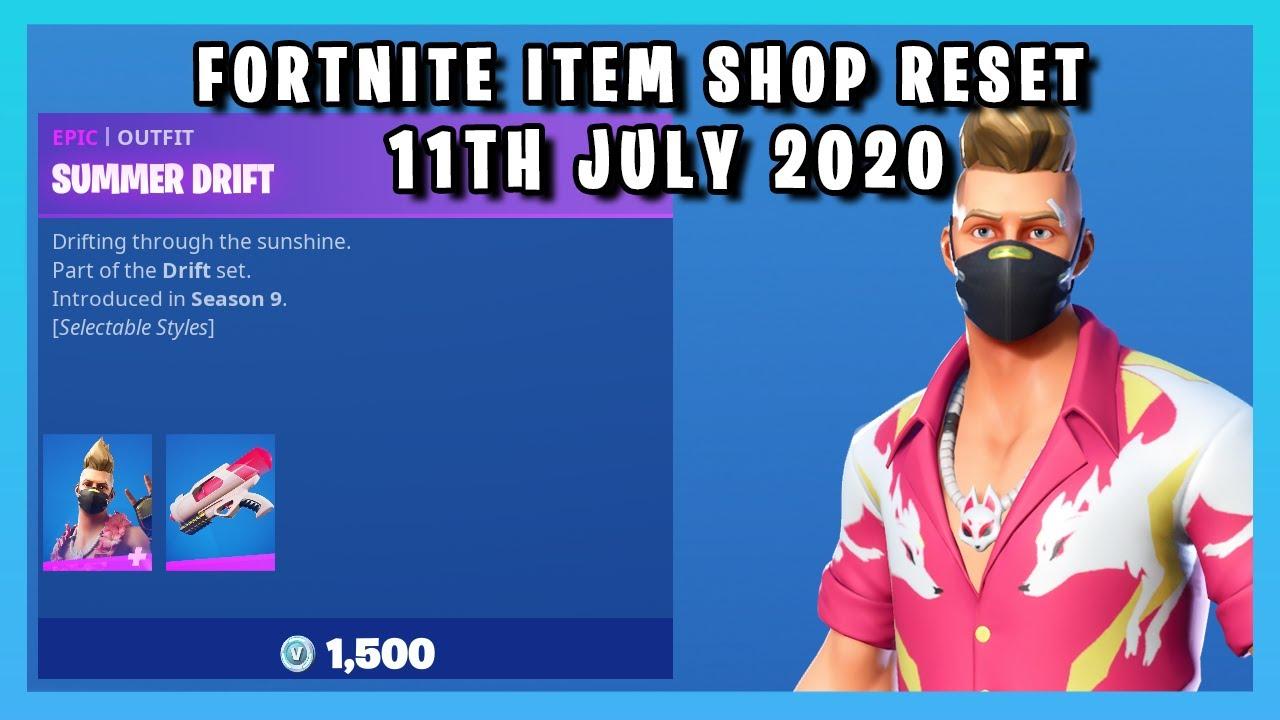 SUMMER DRIFT SET IS BACK!!!! (Item Shop Reset 11th July 2020)