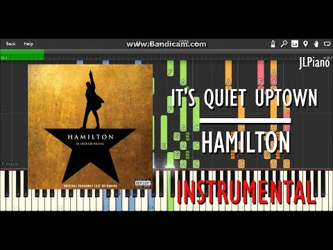 It's Quiet Uptown (Instrumental) - Hamilton (Synthesia Piano Backing) *SHEET MUSIC*