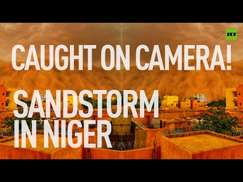 Sky turns blood red in Niger