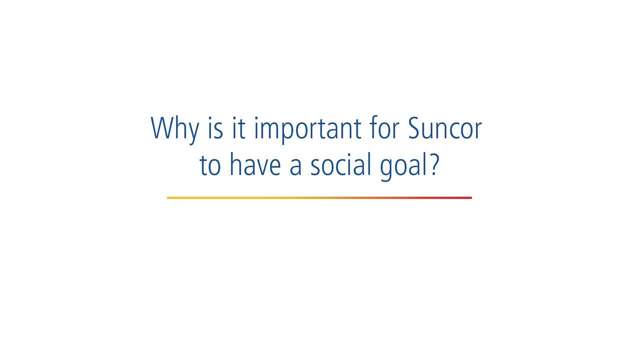social goal sustainability suncor