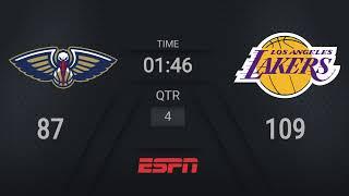 Pelicans @ Lakers   NBA on ESPN Live Scoreboard
