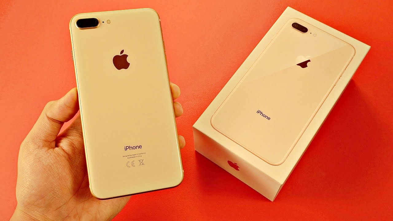 IPhone 8 Plus GOLD Unboxing First Look Vs 7