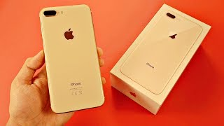 iPhone 8 Plus GOLD Unboxing & First Look vs 7 Plus!