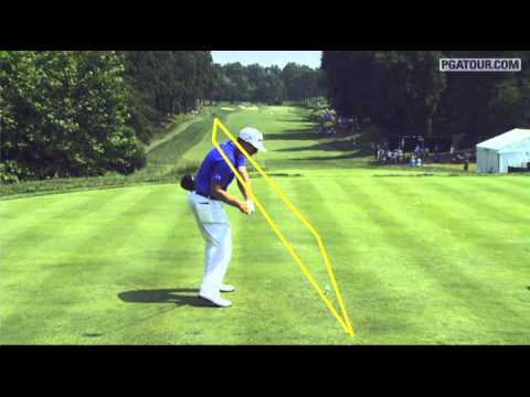 SwingVision: Hunter Mahan's tee shot in Round 3 of the AT&T National