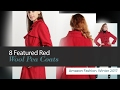 8 Featured Red Wool Pea Coats Amazon Fashion, Winter 2017