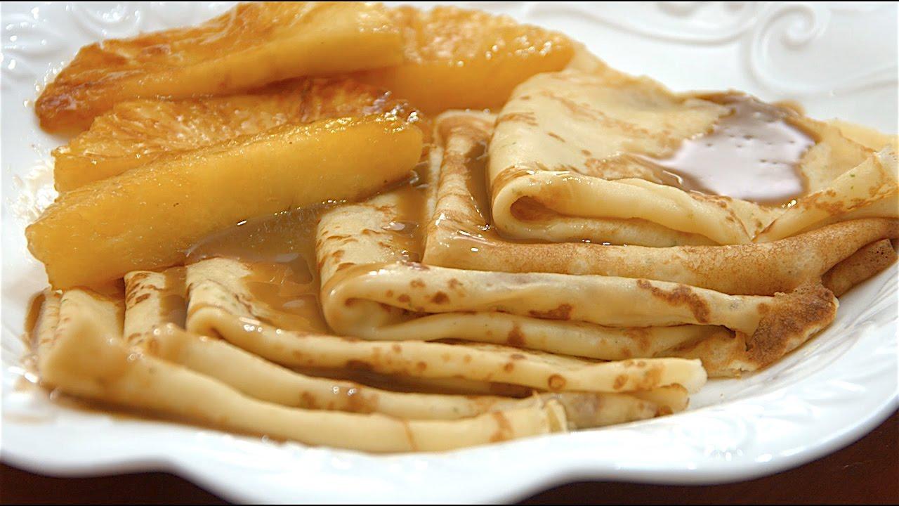 Crepes con salsa de caramelo la cocina de eugenia youtube for Salsa para crepes