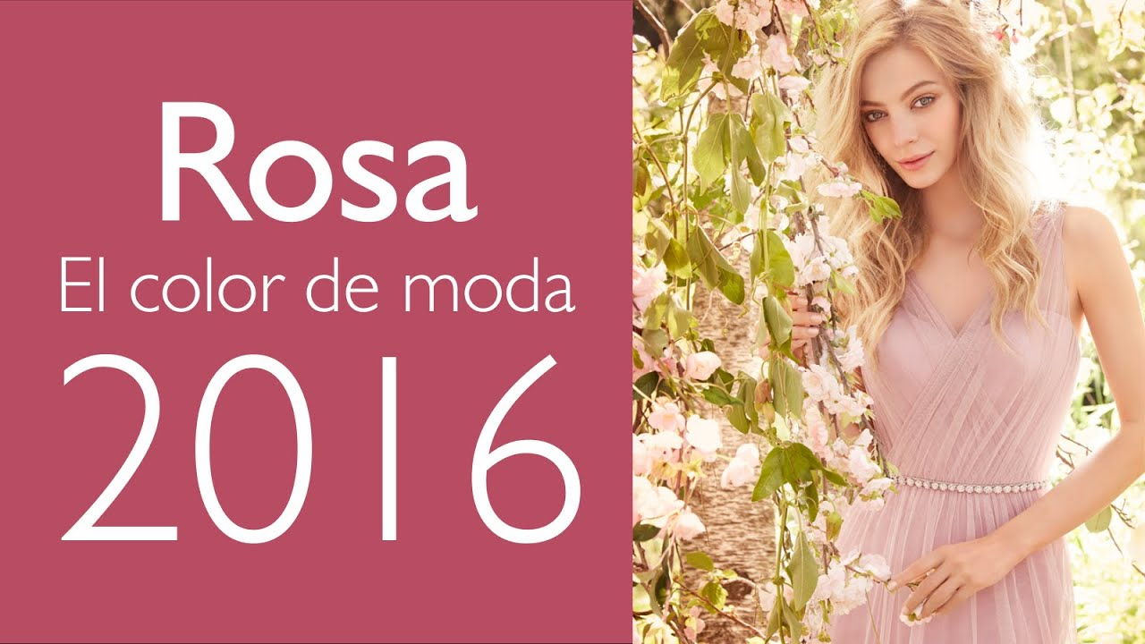Vestidos en Rosa Cuarzo: ¡El Color Tendencia en 2016! - YouTube