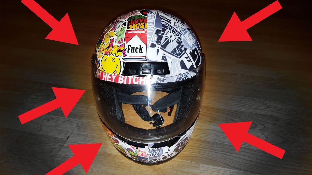 How to fix scratched helmet sticker bombing vinyl wrapping helmet