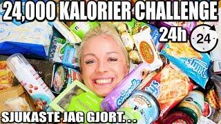24,000 KALORIER PÅ 24 TIMMAR CHALLENGE *SJUKASTE JAG GJORT*