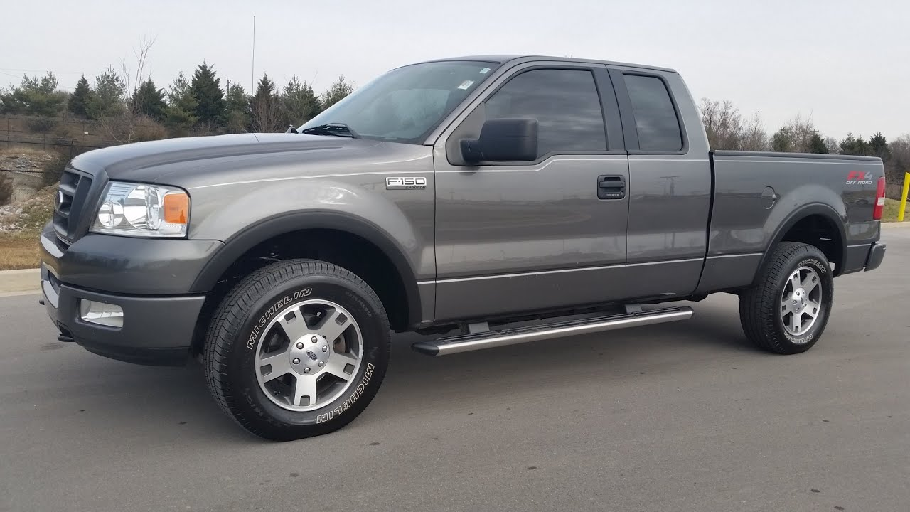 Ford F150 4x4 Sold 2005 Ford F 150 Fx4 Super Cab 4x4 91k 5 4 Dark Shadow Gray For Sale Call 855 507 8520