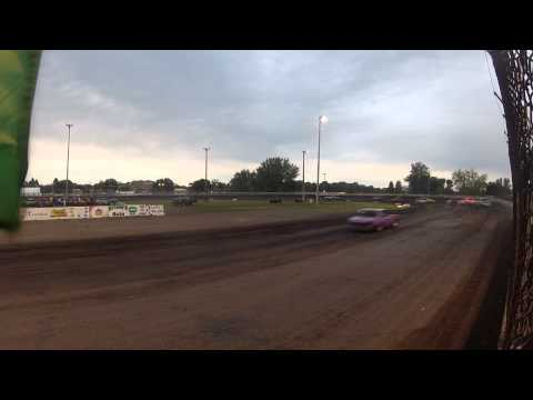 Algona Raceway Feature Races Hornets/Cruisers/Hobby's 8/11/2012 Turns 1&2 GoPro Camera