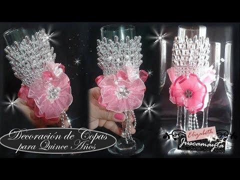 Decoraci n de copas para quince a os l elizabeth for Decoracion de quinceanera