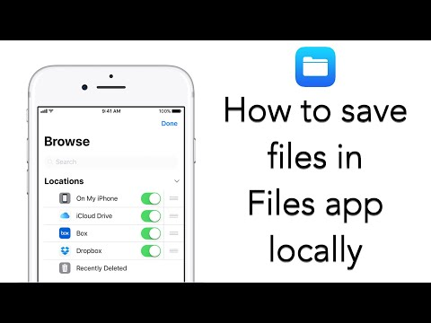 How to use Files app to save files locally in your iPhone/ i