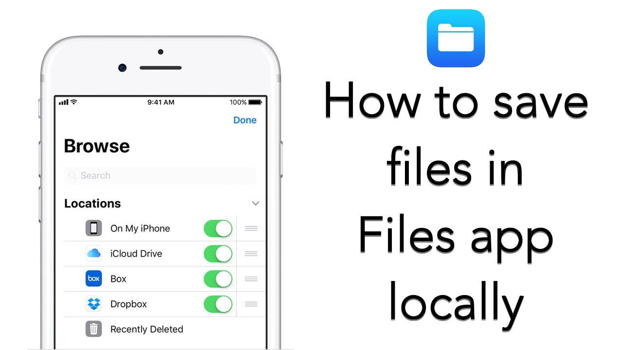 How to use Files app to save files locally in your iPhone