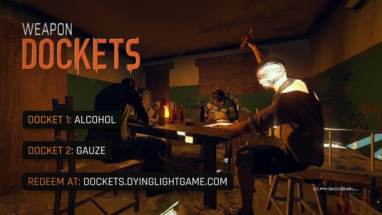 how to get weapon docket codes dying light