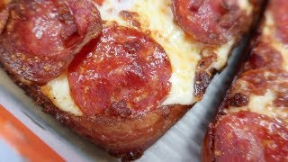 Little Caesars Bacon Wrapped Deep Dish Pizza FINALLY RETURNS!!!!