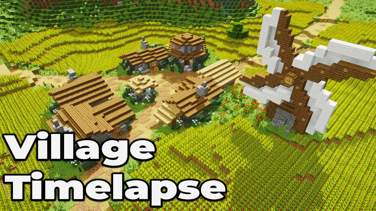 How to Build a Simple Village for Minecraft 9.94 Vanilla [TIMELAPSE]