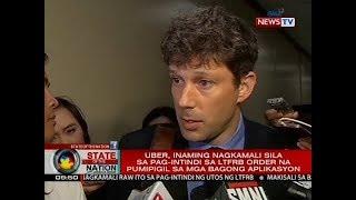 SONA: Uber, inaming nagkamali sila sa pag-intindi sa LTFRB order