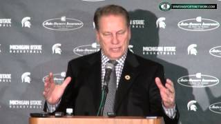 Tom Izzo Press Conference: beating Santa Clara, Marvin Clark as a dog, and Travis Trice
