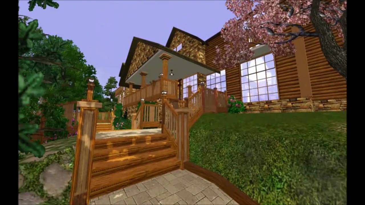 the sims 3 my epic log home youtube