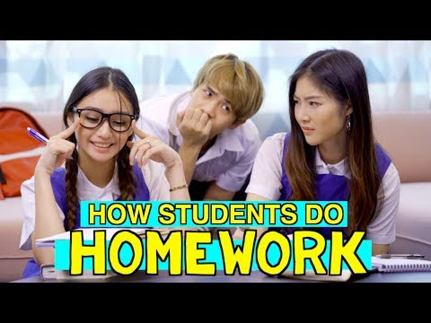 13 Types of Students Doing Homework