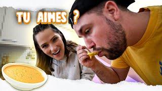 J'essaie de faire goûter ma soupe maison à @Valouzz (il déteste ça d'habitude) 🍵