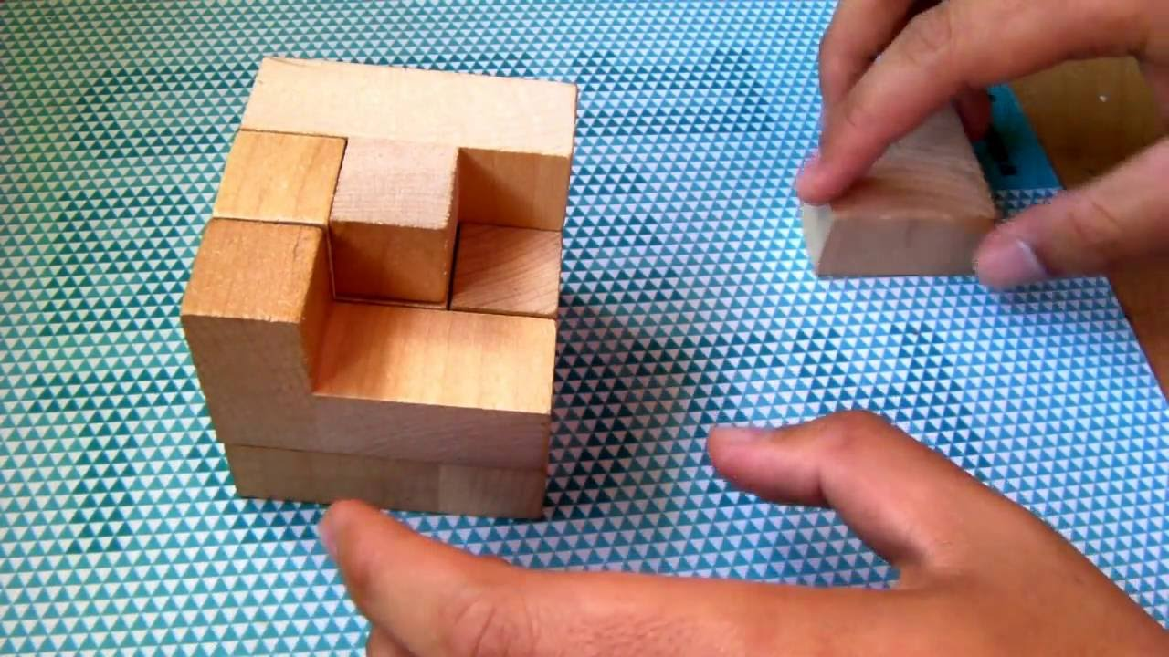 How To Soma Wooden Cube Puzzle Assemble Solution