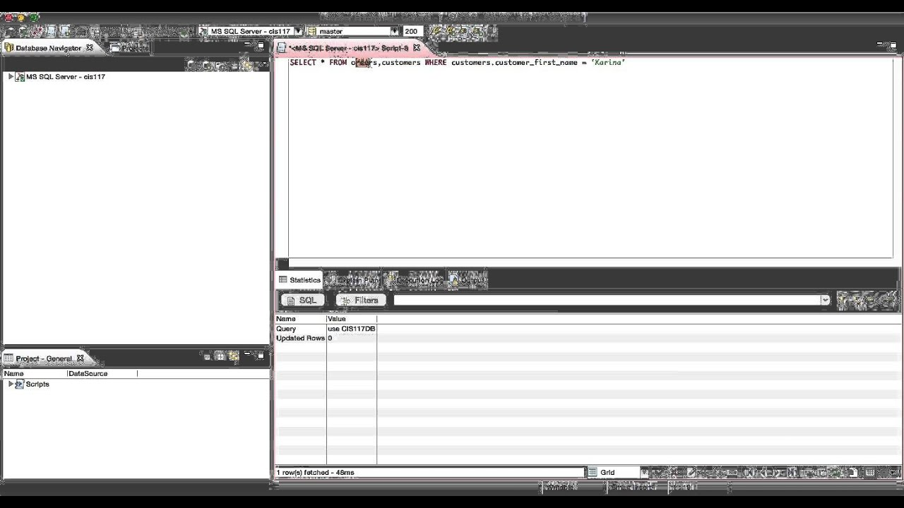 Using Data From Multiple Tables In A Sql Query C1b1t1 43 Youtube